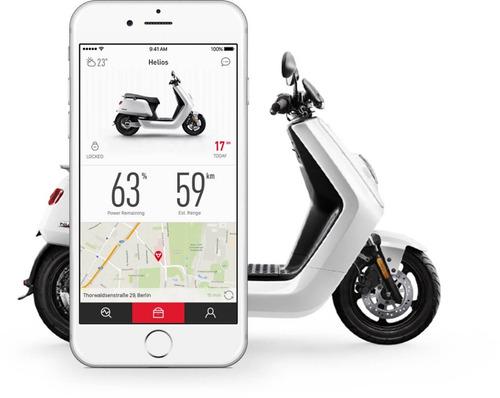 scooter eléctrico niu n1s - blanco