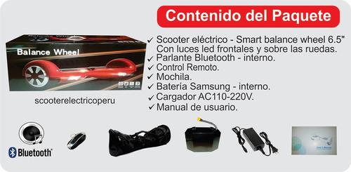 scooter electrico smart balance bateria samsung ruedas led