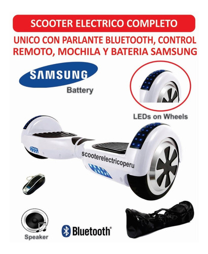 scooter electrico smart balance patineta bateria samsung