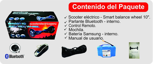 scooter electrico smart balance wheel 10 patineta hoverboard
