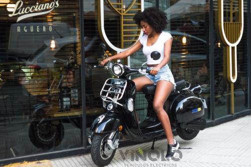 scooter electrico vintage litio, plan gob 16% - viñolo  /e