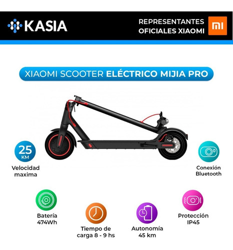 scooter electrico xiaomi pro mijia m365 45km autonomia
