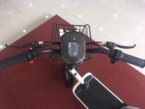 scooter eletrica 350w branca e café