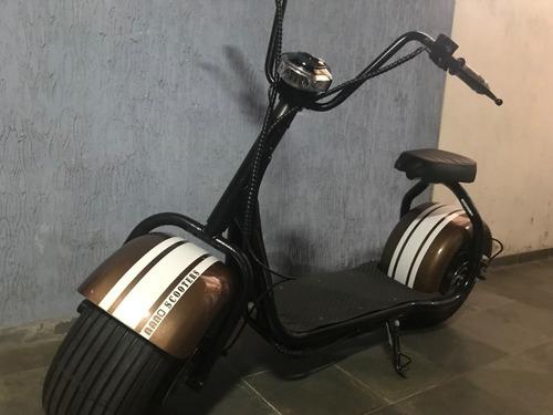 scooter eletrica estilo harley - motor 1000w - bateria fixa
