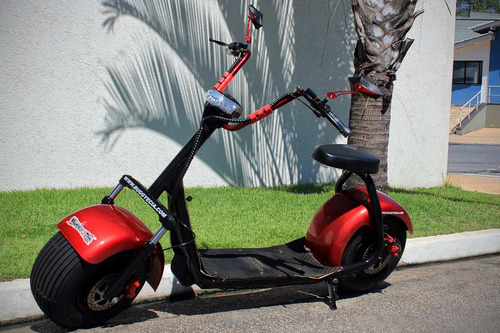scooter elétrica harley city 1000w 60v com som bluetooth