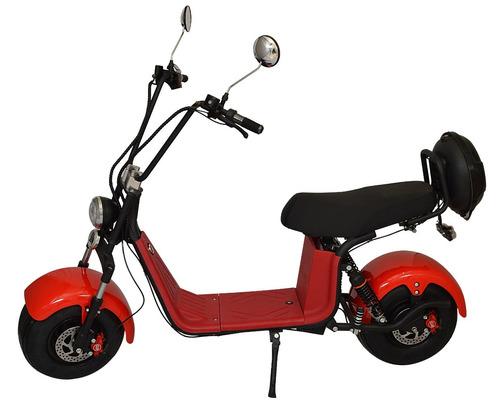 scooter elétrico chopper 1000w leds bat lítio moto vermelho