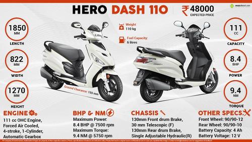 scooter hero dash  8.4 hp 0km 3 años garantia hasta 1/10