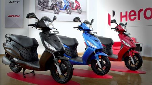 scooter hero dash full 8.4 hp 0km 2018 azul promo ya  07/12