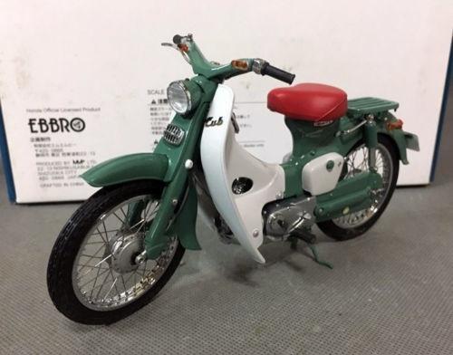 scooter honda c100 super cub verde miniatura 1:10 ebbro