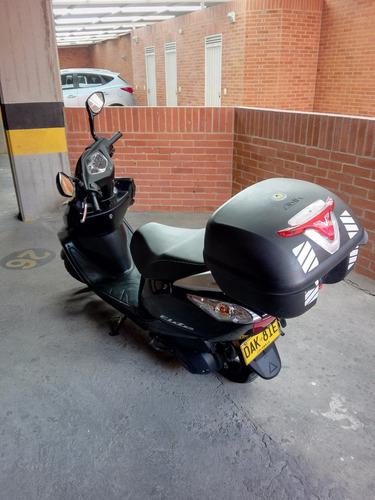 scooter honda elite+ 2017 azul onix