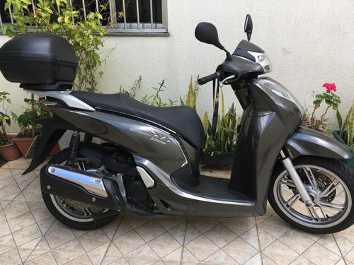 scooter honda sh 300i cinza, nova,  7 mil km.
