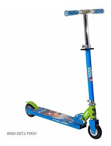 scooter hot wheels 4  folding scooter, blue