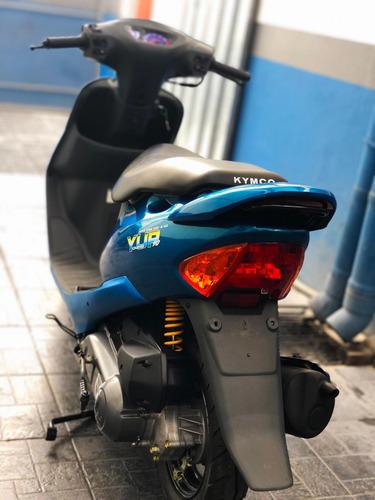 scooter kymco 90 cc (2 tiempos) azul