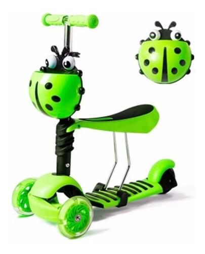 scooter monopatin 3 en 1 niños y niñas patineta