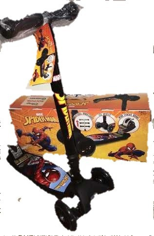 scooter monopatín led spiderman/vengadores/avengers/disney