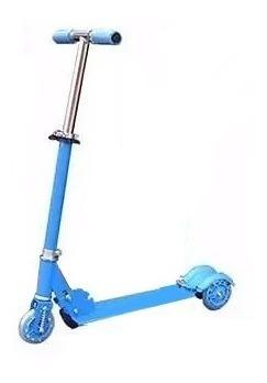 scooter monopatin metálico 3 ruedas luces