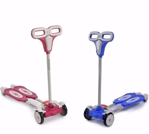 scooter monopatin tijeras de 4 ruedas regulable de lujo