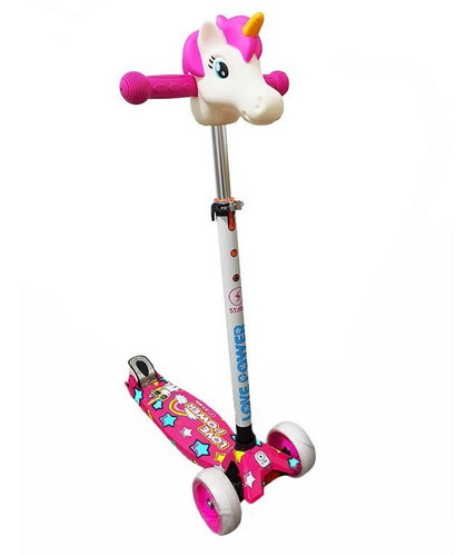 scooter monopatin unicornio ideal chica nena regulable