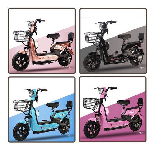 scooter moto eléctrica 500w doble asiento - mr price