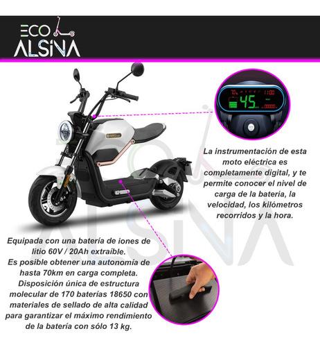 scooter moto electrica miku motor bosch 800w 55 km usb