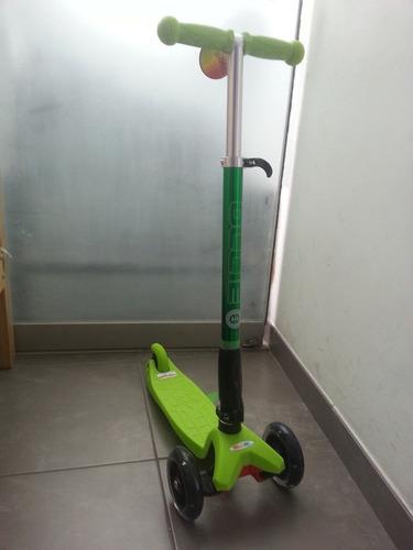 scooter ollie ruedas con luces niños niñas 4 a 7 años
