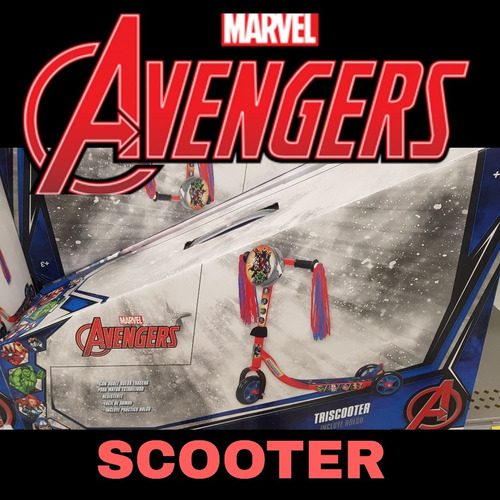 scooter para niños avengers