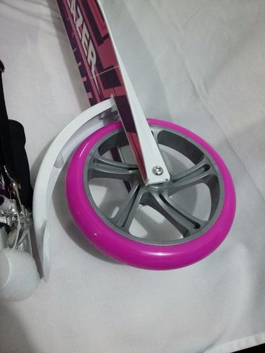 scooter patin del diablo rosa profesional para dama