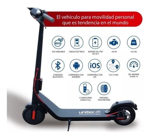 scooter patineta eléctrica unitec