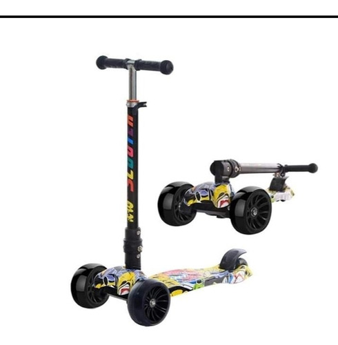 scooter ruedas anchas 5cm hasta 75cm altura luces led