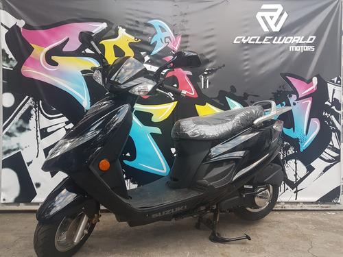 scooter suzuki an 125 0km 2017 negro stock hasta 12/10