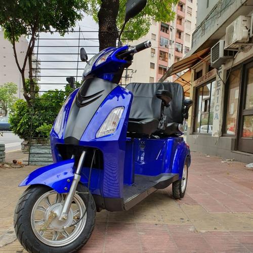 scooter triciclo electrico doble asiento + autonomia 65km