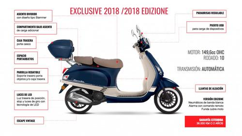 scooter zanella exclusive 3 150, plan ahora 12/18, arrow
