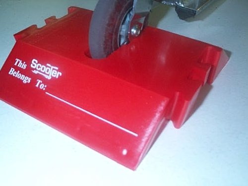 scooterport-red scooter stand-kick scooter soporte