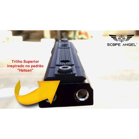 Scope Angel Mount Anti Impacto Lunetas E Red Dots  Cor Preto
