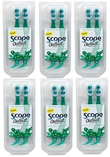 scope outlast minibrushes 2 count 6 piece