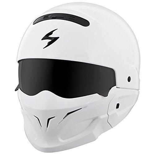 scorpion covert open-face casco sólido gloss street bike...