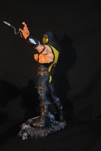 scorpion escultura colecionavel 40 cm