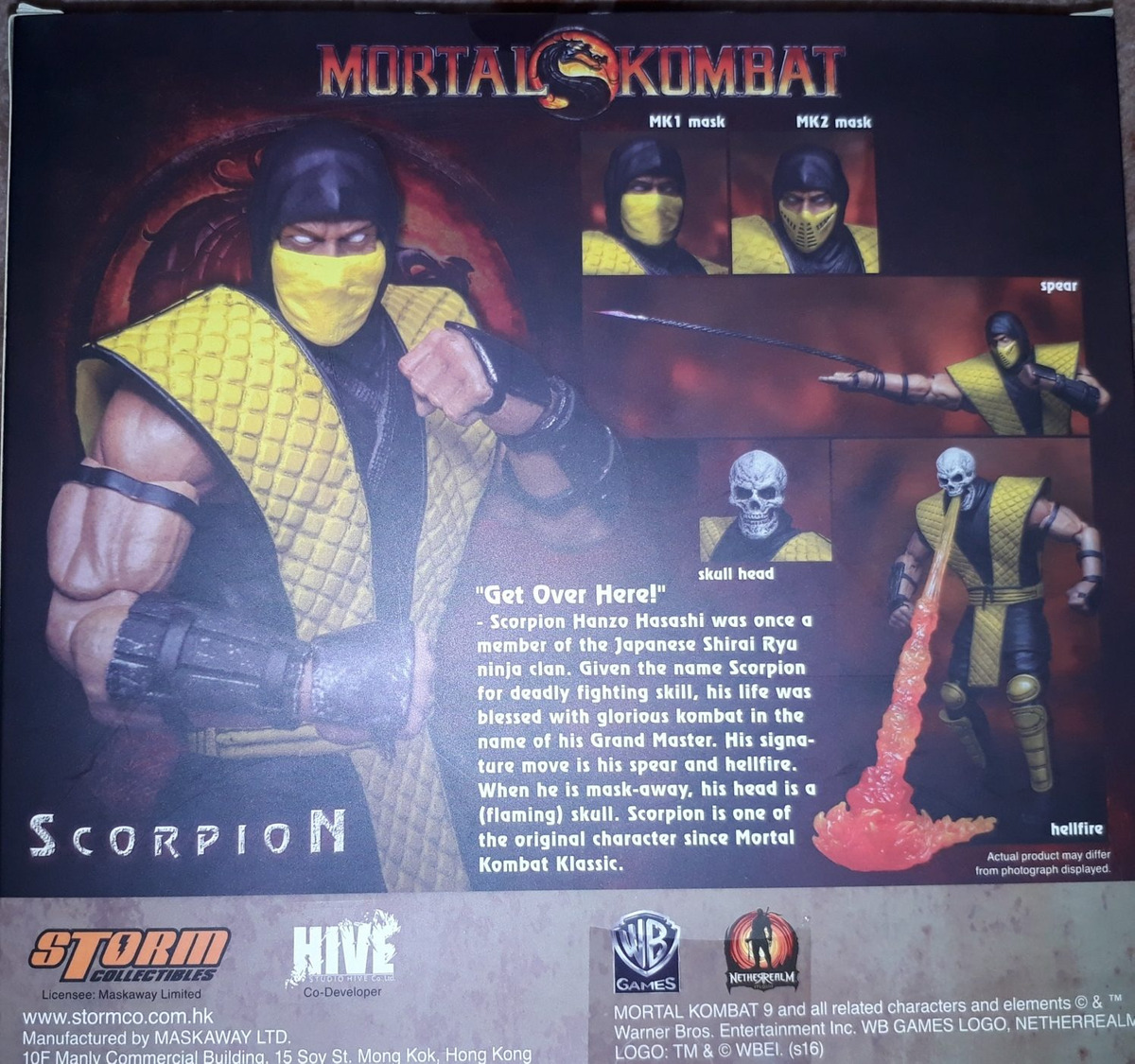 Scorpion Mortal Kombat Storm Collectibles Special Edition