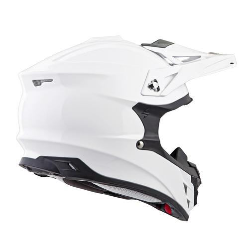 scorpion vx-35 mx offroad sólido casco blanco lg