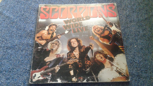 scorpions 2lp word wide live, vinilos de 10