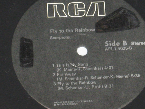 scorpions - fly to the rainbow ( usa edition lp)