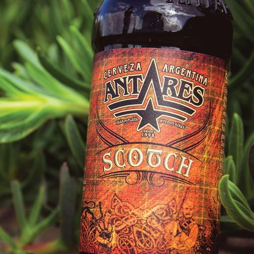 scotch caja x 12 cerveza artesanal antares bot 500ml