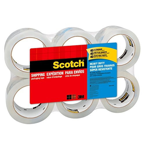scotch heavy duty shipping cinta de embalaje 3 núcleos 188 x