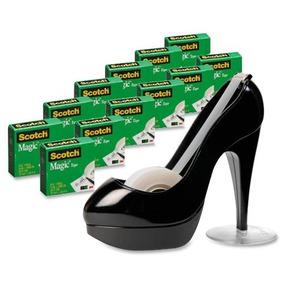 Cinta Dispensador Negro Zapato Magic Con Mate Acabado Scotch 2WDYHIE9