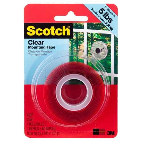 scotch® mounting tape clear , 3m®