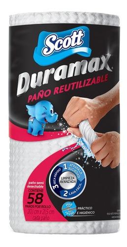scott duramax 58 paños reutilizables x 1 rollo