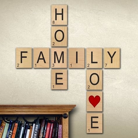 Scrabble de madera grande letras decoracion foam s 3 - Scrabble decoracion ...