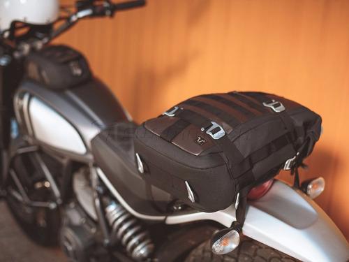 scrambler maleta legend back pack c cinchos para montar moto