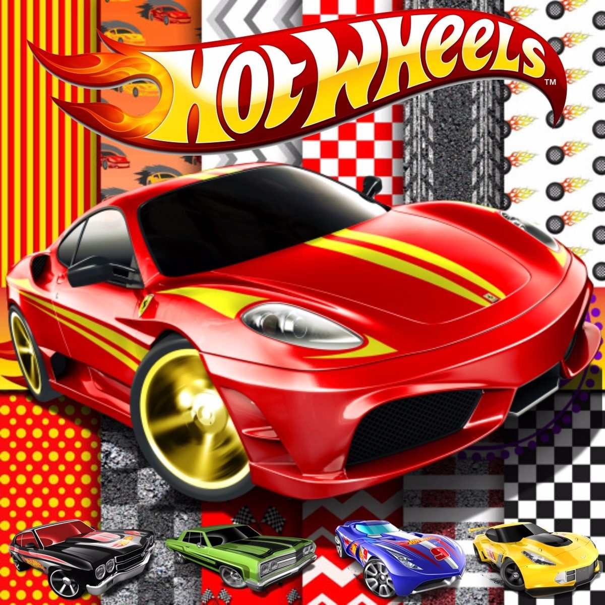 Scrap1real Kit Scrapbook Digital Hot Wheels Hotwheels 1 R 10