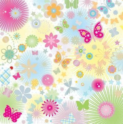 Scrapbook Cartulina Papel Decorado Block Mariposas Flores